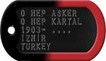 ALNIMA YAZILMIŞ KARA KARTAL